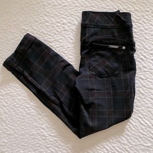 Plaid Cropped Skinny Trousers